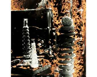 Things Outside on the Patio Table - Chemgraph - Original Fine Art Photograph