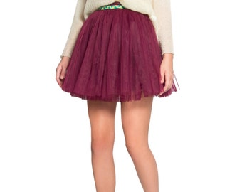 Short soft Tulle Skirt - Colorful belt included