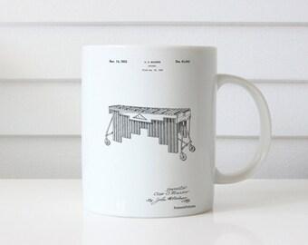 Marimba Mug, Marimba Patent, Marimba Mug, Marimba Mug, Marimba Decor, Marimba Mug, Marimba Blueprint, PP0949