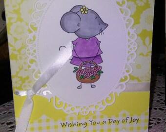 Handmade Mouse Birthday Card