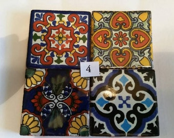 Mexican Tile Refrigerator Magnet Set of 4 strong neodymium #4