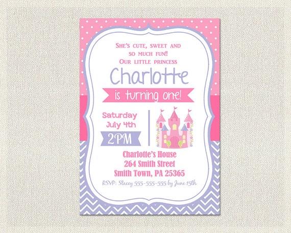 pink birthday invitations