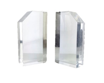 Mid Century Lucite Bookends