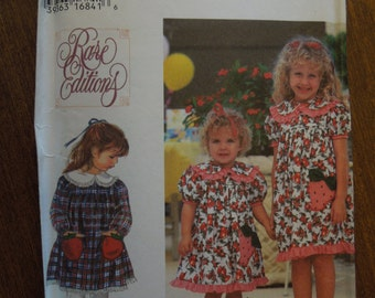 Simplicity 9648, dress, childrens, girls, Rare Editions, UNCUT sewing pattern, craft supplies