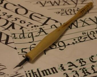 Calligraphy  Dip Pen Holder Wood Turned Hand Made - Crepe Myrtle