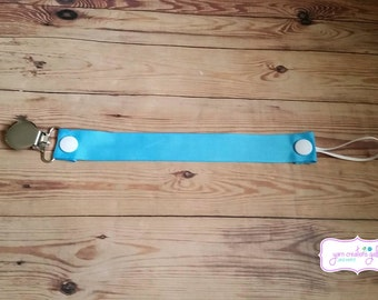 Soothie Pacifier Holder--Turquoise Blue