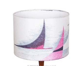 "12"" 30cm Retro Drum Lampshade Pendant made using Original Fabric Vintage"