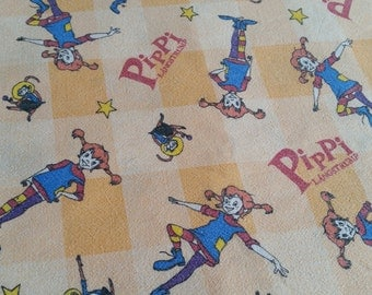 Pippi retro swedish fabric for application , design Inger Wang for Astrid Lindgren