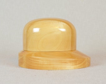 Wooden Hat Block Set - SET 12 - Trilby and Fedora Brim Block and Oval Crown Block