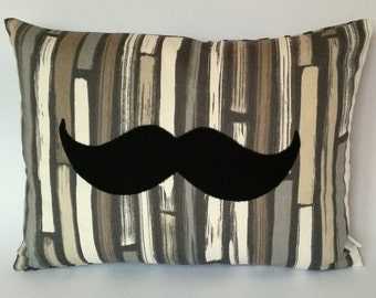 Moustache Cushion Cover, Movember, Change the Face of Mens Health, MoBros, gifts for men, something for the boys