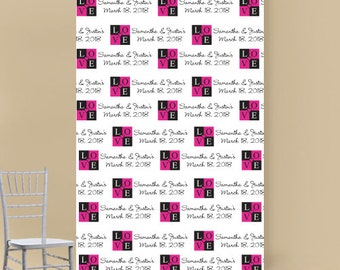 LOVE Personalized Photo Booth Backdrop (ENWF-JM2598618)