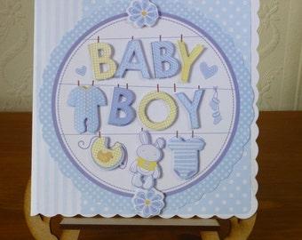 3D New Baby Boy Card