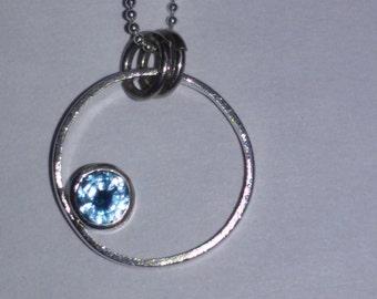 Pendant with Aquamarine