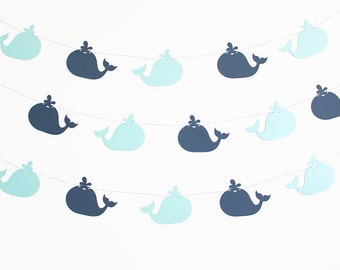 Whale Party Banner - Customizable Colors