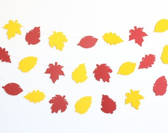Autumn Leaves Thanksgiving and Halloween Party Banner - Customizable Colors