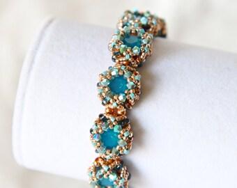 Aqua Rose Gold Bracelet