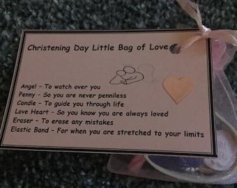 Christening Little Bag Of Love