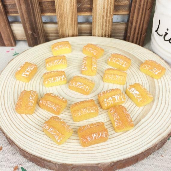 10pcs resin flatback flat back cabochon kawaii diy resin for Artificial bread decoration