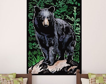 Black Bear on a Rock Nature Wall Decal - #60979