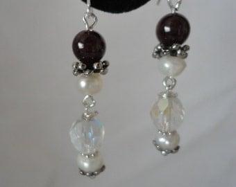 Stunning Garnet Pearls Earrings******.