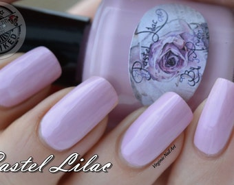 Pastel Lilac, 15 ML pastel lilac nail polish, 5free, vegan, handmade