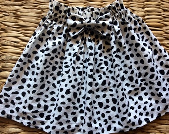 Dalmation bow skirt