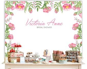 Floral Printable Backdrop