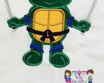 Leo Personalized Shirt, TMNT Shirt, Leonardo Shirt, Blue Ninja, Leonardo Birthday Shirt