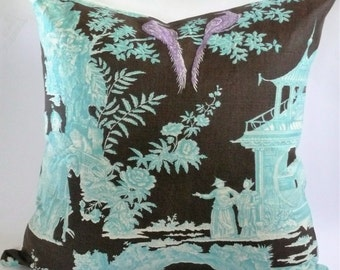 Quadrille Paradise Garden Pillow Cover