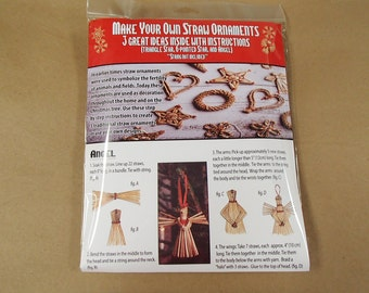 Scandinavian Straw Kit for Making Your Own Straw Ornaments #1499