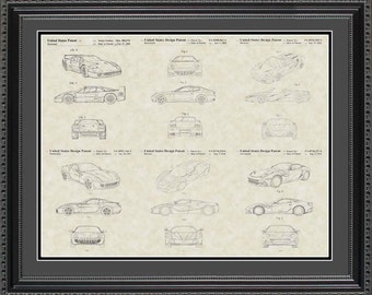 Ferrari Patent Collection Print Gift PFERR2024