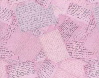 RJR Fabrics Home Seweet Home 2358 02 Pink Notes Yardage by Dan Morris