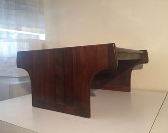 Mid Century Walnut Coffee Table by Brown Saltman