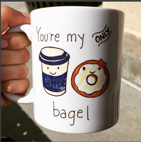 Dating coffee and bagel
