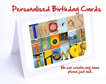 Thomas Personalised Birthday Card
