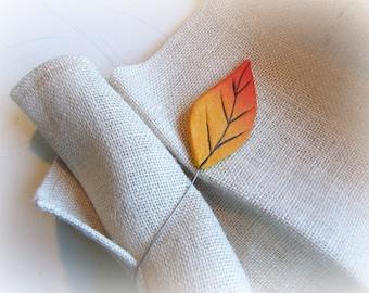 Curtain tie backs with orange leaf Magnetic tiebacks Leaves curtain holdbacks
