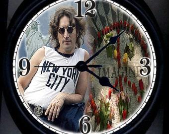The Beatles John Lennon NY Wall Clock