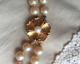 Vintage Menorca faux pearl multi strand necklace