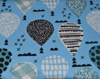 1/2 yd jersey, Knit-Jersey, balloons blue (15,98 EUR/yd)