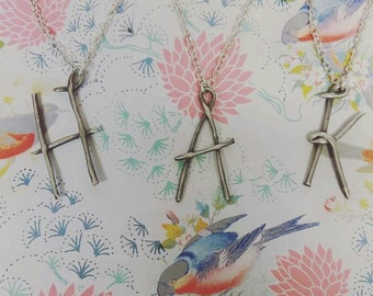 Any initial silver necklace