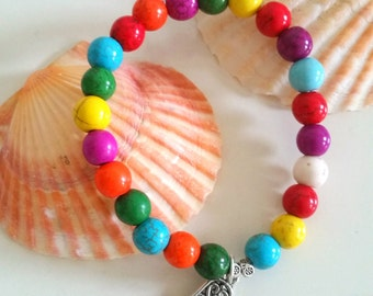 Hamsa bracelet, bracelet, Zen Yoga Mala bracelet, bracelet, handmade jewelry
