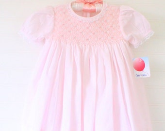 Vintage baby dress.light pink, Petit Ami dress WITH bloomers for 9 Mo NEW! with tags