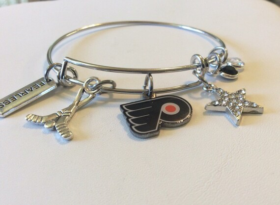 flyers bracelet handcrafted philadelphia flyers charmed bracelet by 5526