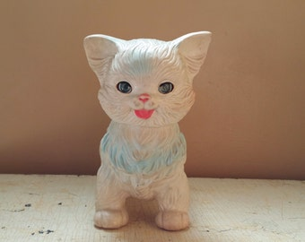 Kitty Rubber Cat Toy Edward Mobley 1960 Arrow Rubber & Plastics Cat Squeeze Toy