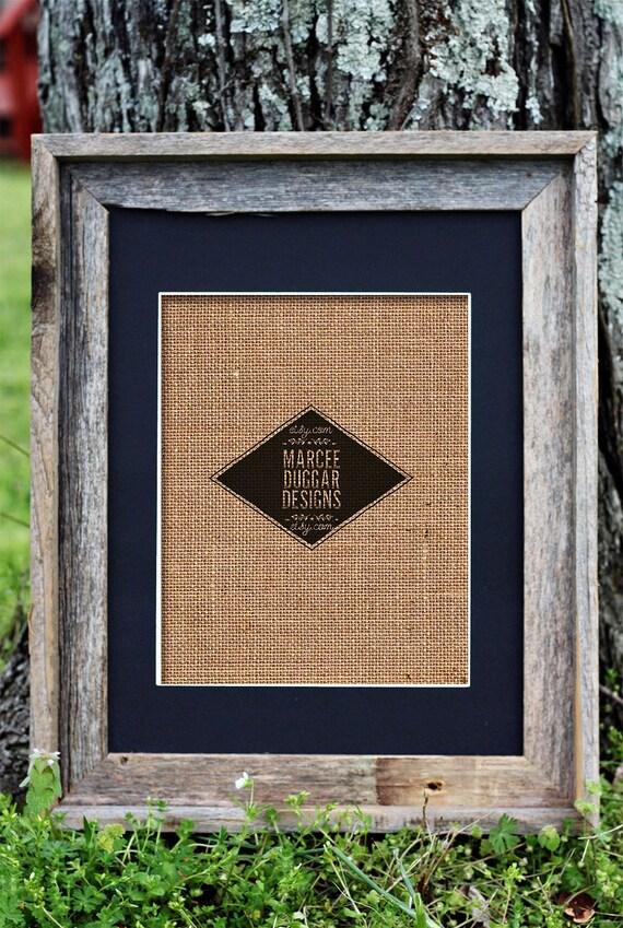 Barn Wood Frame | 11x14 Barn Wood Frame | black Mat