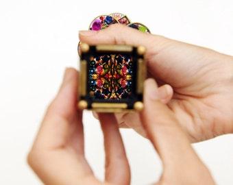 Art Gift Idea, Brass Kaleidoscope, Mr Squishy, Unique Kaleidoscope, Collectibles Art
