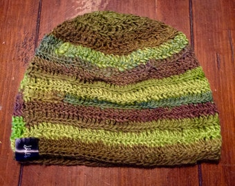 Mixed greens beanie
