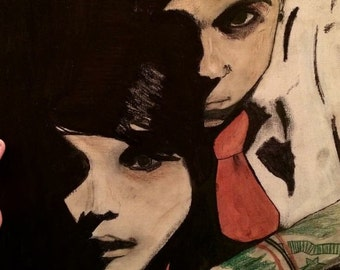 Gerard and Frank on canvas