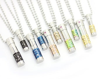 1PC Aromatherapy Necklace - Stainless Steel EssentialOil Diffuser Necklace