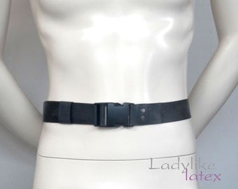 Adjustable Latex Belt with Plastic Side Release Buckle